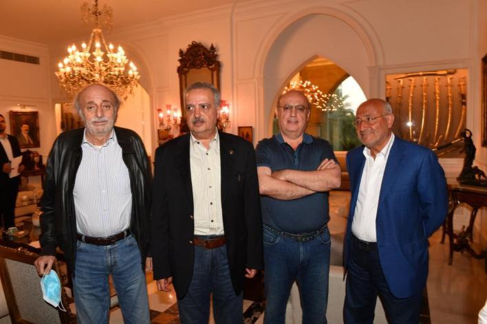 غازي العريضي، وئام وهاب، طلال ارسلان، وليد جنبلاط