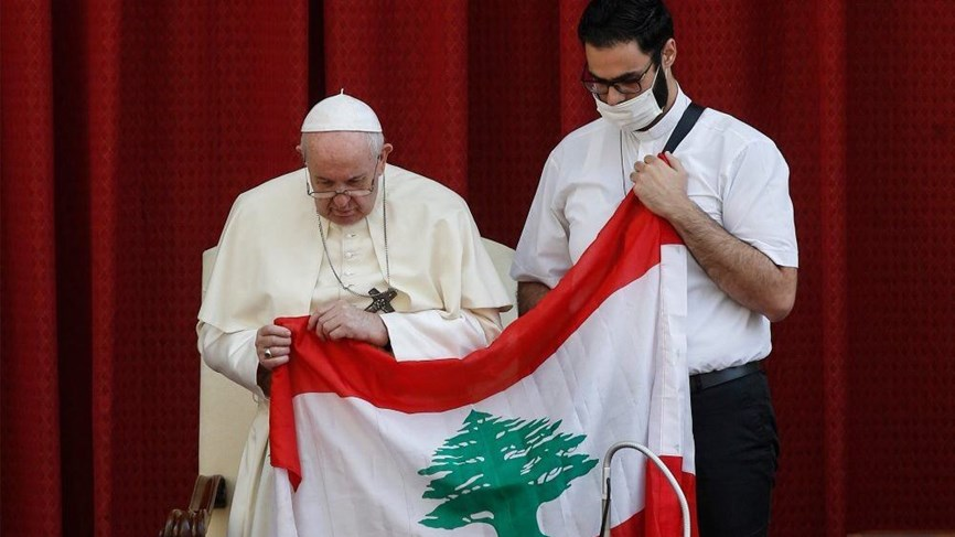 البابا فرنسيس يصلي لأجل لبنان