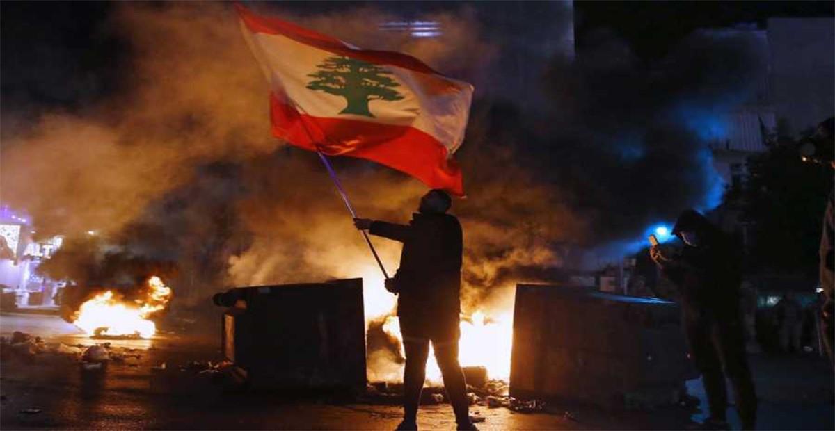 علم لبنان (مظاهرات)