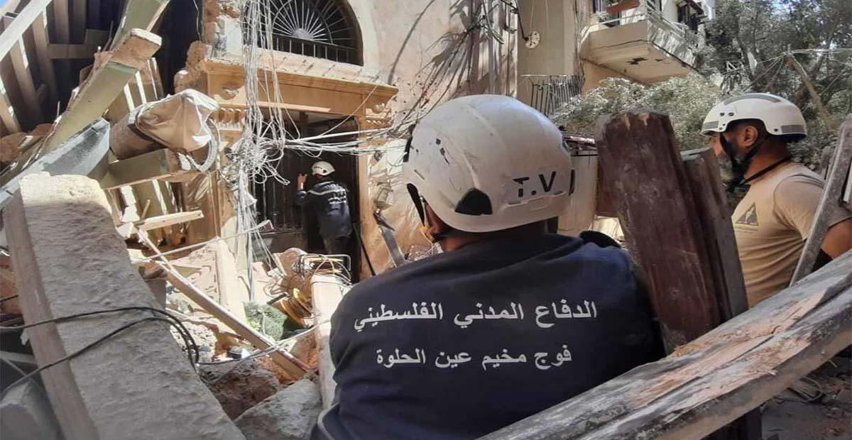 الدفاع المدني الفلسطيني (انفجار المرفأ)